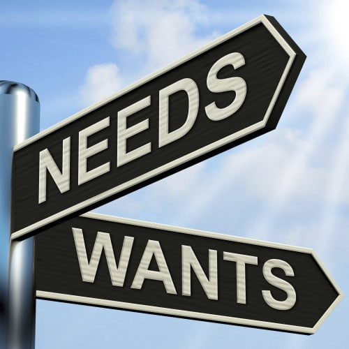 Do You Know the Difference between Needs and Wants?