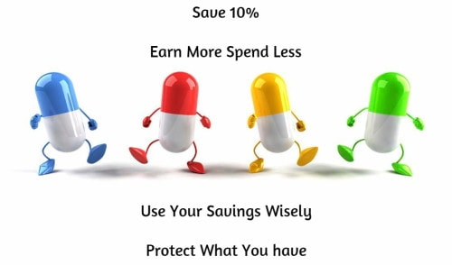 Save 10% Earn More Spend Less Use Your Savings Wisely Protect What You have