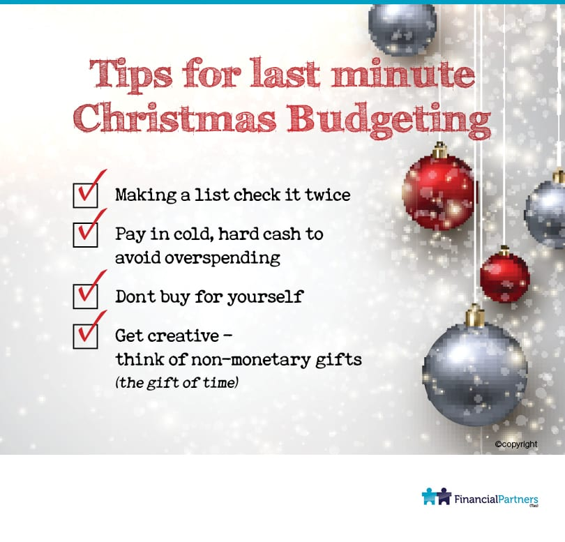 Tips for Last Minute Christmas Budgeting