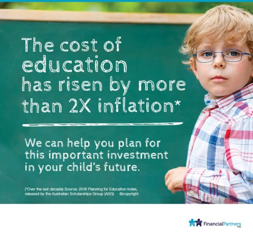 The cost of education has risen by more than 2X inflation