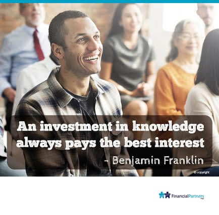 """An investment in knowledge always pays the best interest"" ~ Benjamin Franklin"