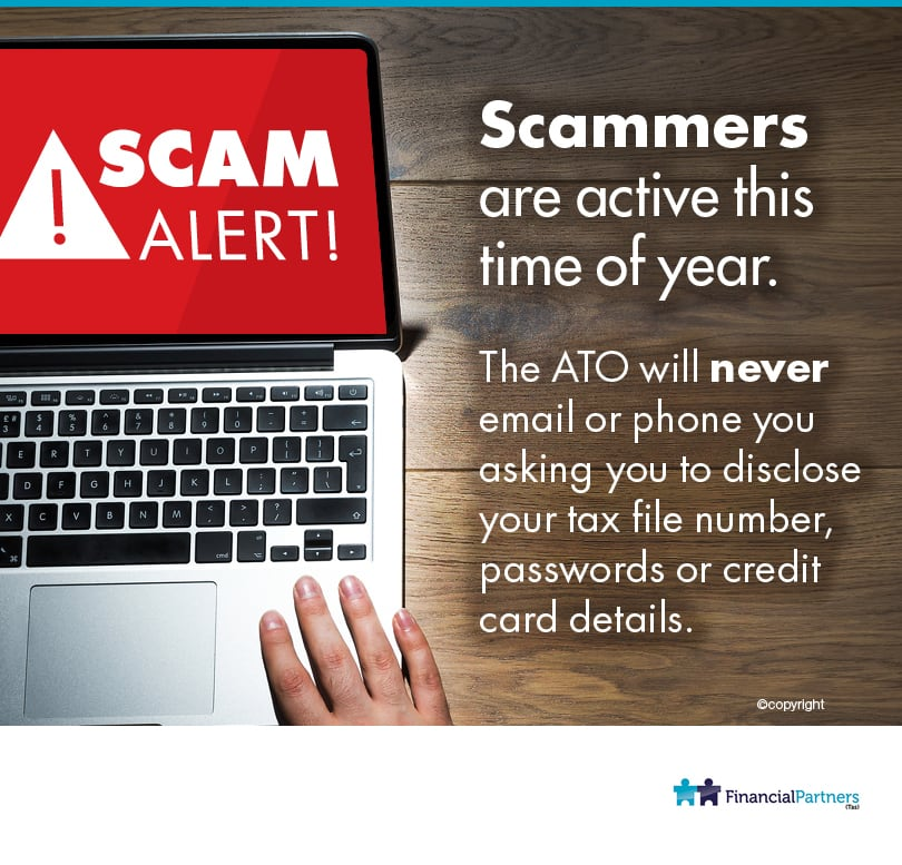 Scammers are active this time of year.