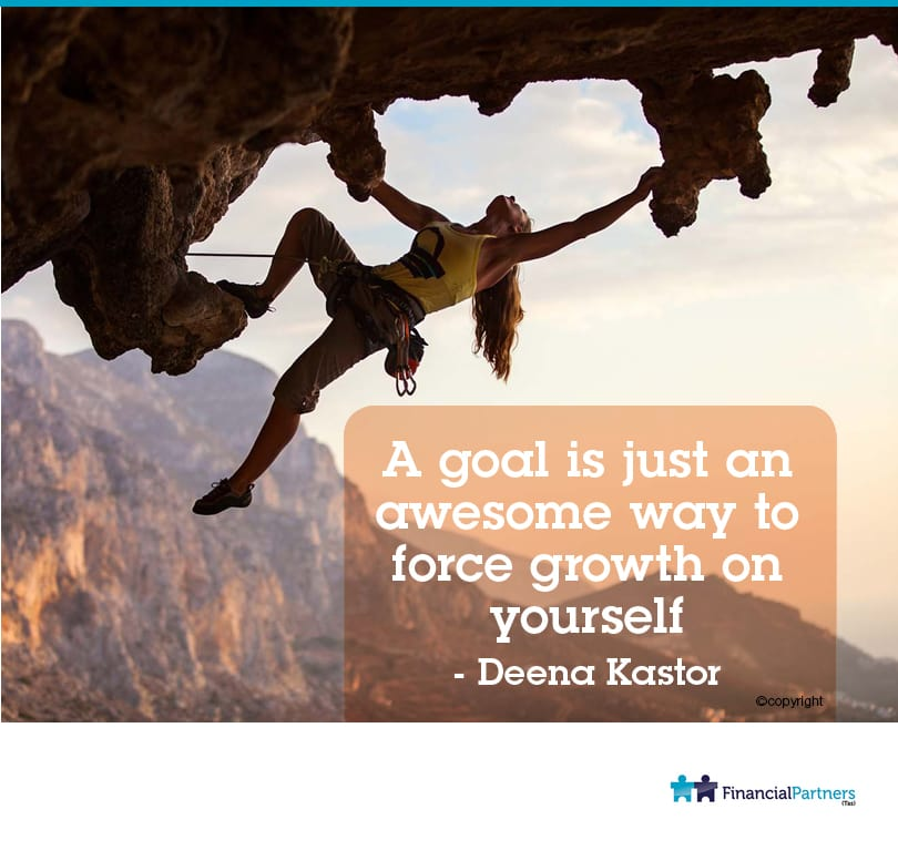 """A goal is just an awesome way to force growth on yourself"" ~ Deena Kastor"