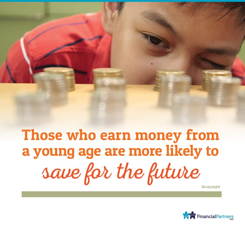 Those who earn money from a young age are more likely to Save For The Future