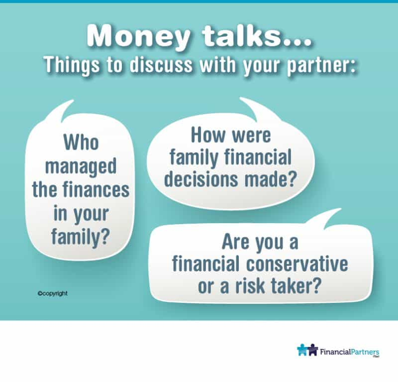 Money Talks... Things to discuss with your partner: