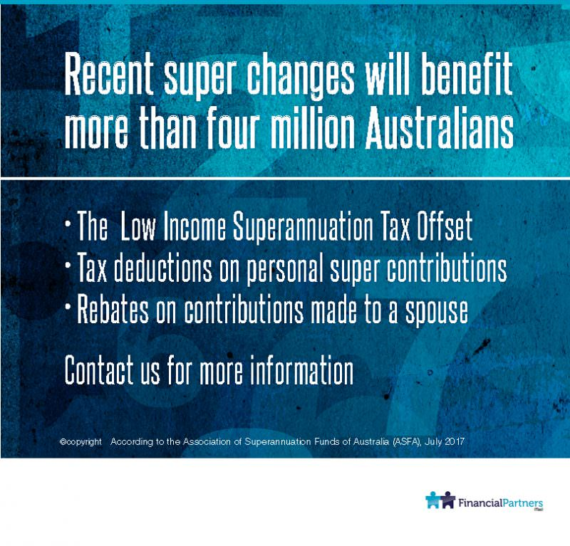 Millions but not all to benefit from 2017 super changes