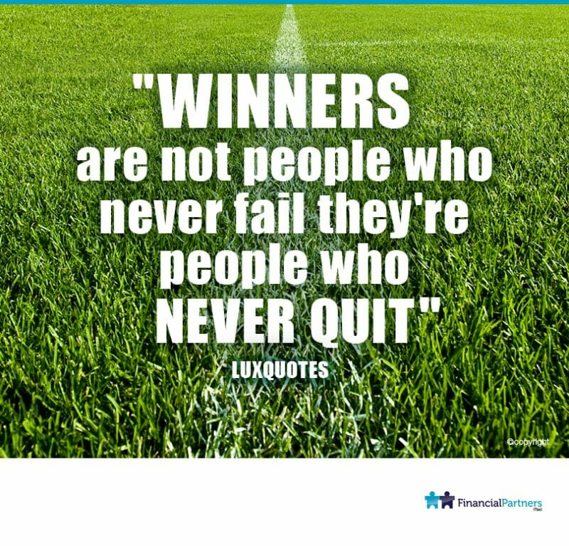 """WINNERS are not people who never fail they're people who NEVER QUIT"" ~Lux quotes"