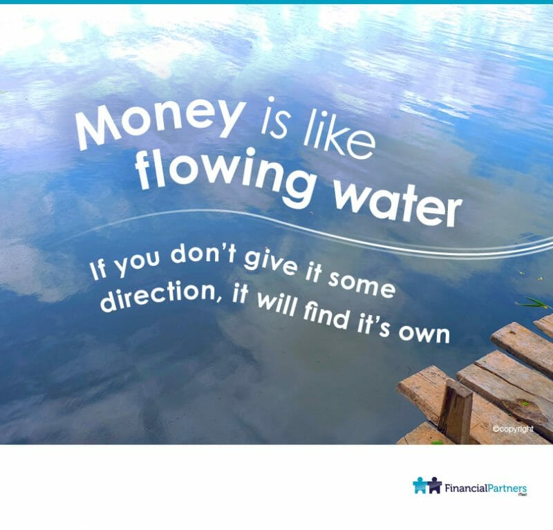 Money is like flowing water