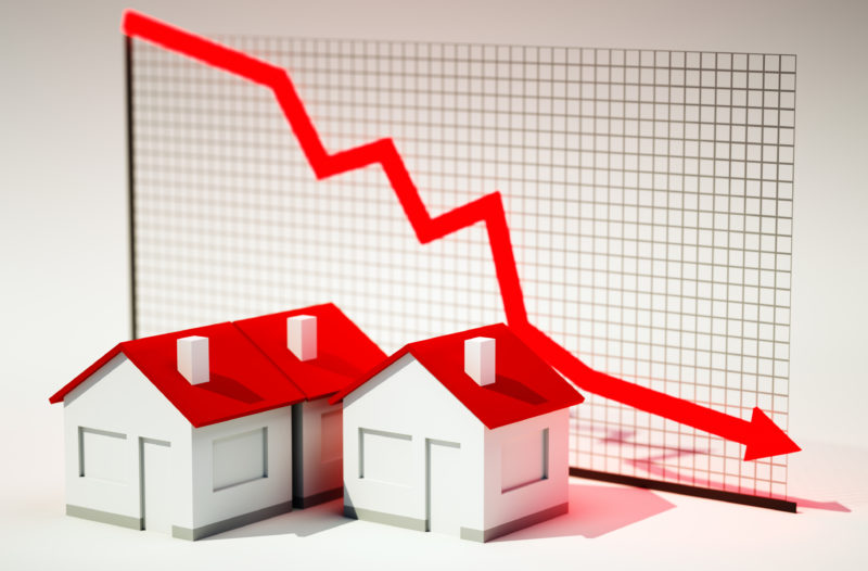 Boom turns to bust – falling Australian home prices.