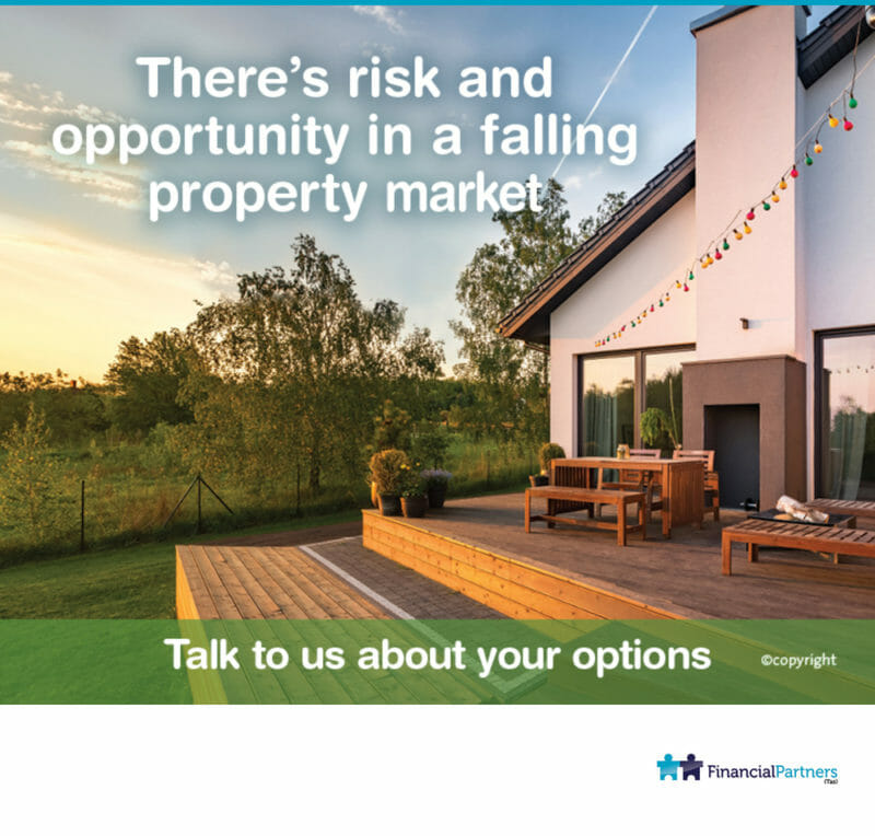 There's risk and opportunity in a falling property market.