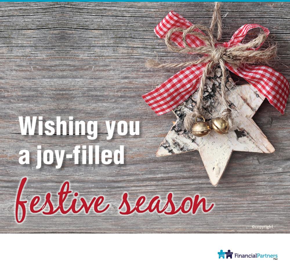 Wishing you a joy-filled festive season