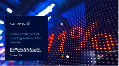 Webinar: Themes from the first reporting season of the decade  | AMP Capital
